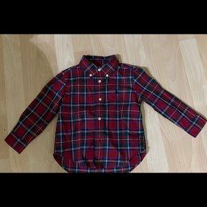 Polo Ralph Lauren Boys Plaid Poplin Shirt 24M